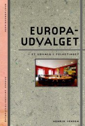 Europaudvalget – et udvalg i Folketinget - Aarhus Universitetsforlag