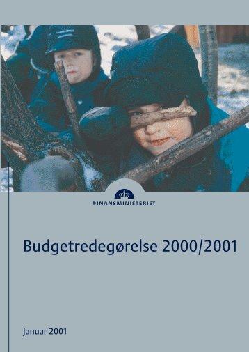 Budgetredegørelse 2000/2001 - Finansministeriet