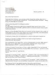 Peter Dahls brev til Anders Fogh Rasmussens - torturdanmark