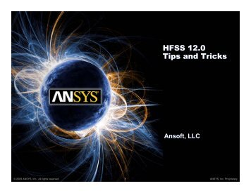 Imprint Projection - Ansys