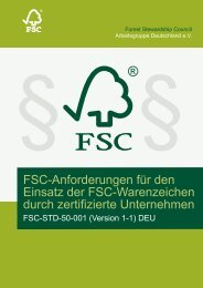 Fsc-Anforderungen für den Einsatz der Fsc-Warenzeichen durch ...