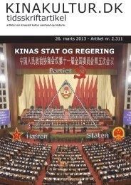 Læs artikel om Kinas stat og regering her - Kina Portal