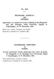 DENMARK, NORWAY and SWEDEN Agreement on reciprocal ...