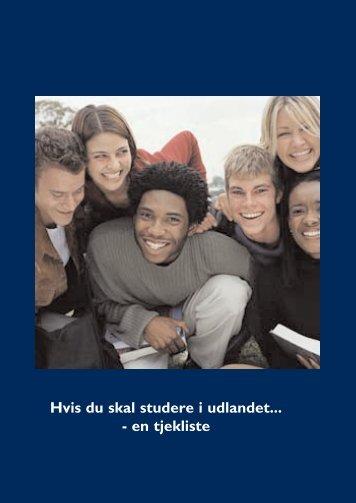 Hvis du skal studere i udlandet... - en tjekliste - Skatteministeriet