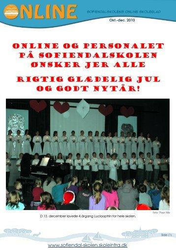ONLINE og personalet på Sofiendalskolen ønsker jer alle rigtig ...