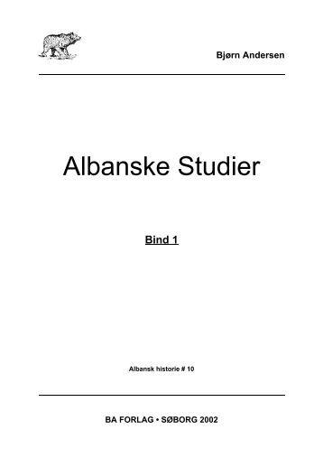 Albanske Studier 2002 - BA Forlag