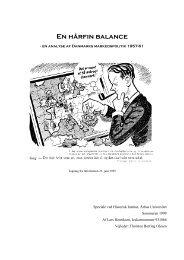 Speciale ved Historisk Institut, Århus Universitet - Adjunkten