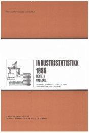 Industristatistikk 1986. Hefte II Varetall - SSB