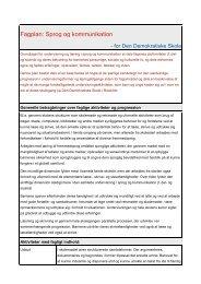 Fagplan: Sprog og kommunikation - EnHest