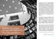 Invitation til seminar: Den nye offentlighedslov - Plesner