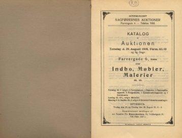 Auktionen Indbo, Mø bier, Malerier