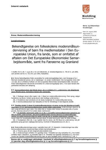 dervisning af børn fra medlemsstater i Den Eu