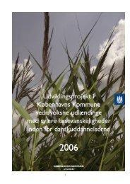 Rapport KK Udviklingsprojekt 2006 - CBSI Sprogcenter