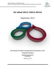 EU udbud 2012 - Esbjerg Forsyning A/S