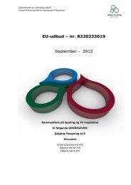 E EU-udbud – nr. 8220233019 September - 2012 - Esbjerg ...