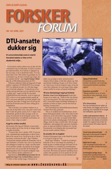 DTU-ansatte dukker sig - FORSKERforum