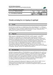 Teknisk anvisning for overvågning af ynglefugle