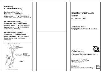 Sozialpsychiatrischer Dienst Arbeitskreis Offene ... - aop-calw.de