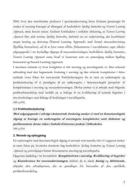 Anslag 2 Kompleksiteten i stavning ___