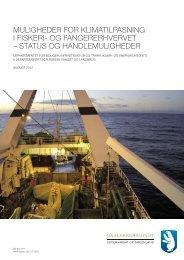 muligheder for klimatilpasning i fiskeri- og fangererhvervet - Nanoq