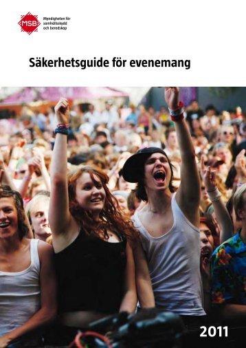 Räddningsverkets säkerhetsguide för evenemang - Uppsala kommun