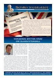 voksende britisk krav om glass/steagall - Schiller Instituttet