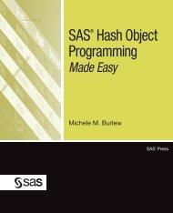 SAS® Hash Object Programming