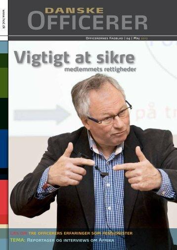 Vigtigt at sikre - Hovedorganisationen af Officerer i Danmark