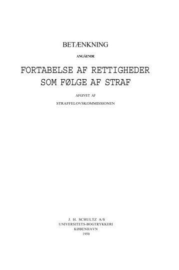 Betænkning angående fortabelse af rettigheder som følge af ... - Krim