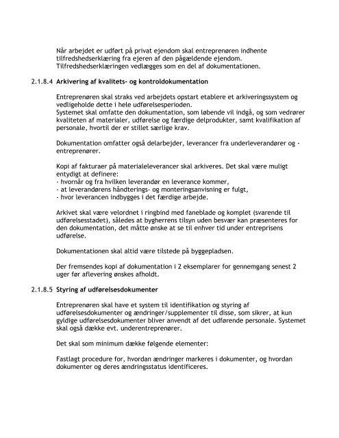 Fælles Arbejdsbeskrivelse (FAB) Ramme- udbud/aftale - Thisted vand