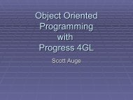 Object Oriented Programming with Progress 4GL - The OpenEdge ...