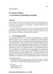 Jytte Heine* TV-tekster til tiden - Hermes - Journal of Linguistics