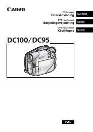 Bruksanvisning Betjeningsvejledning Käyttöopas PAL - Canon