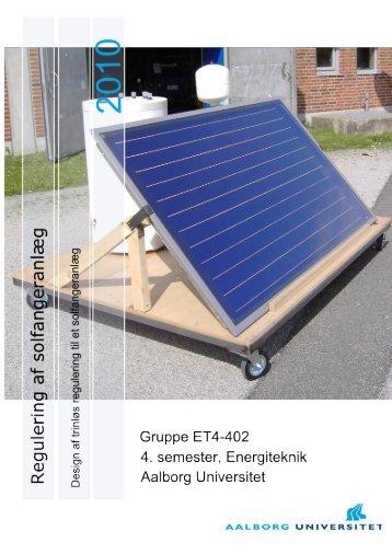 Model af solfangeranlæg - VBN - Aalborg Universitet