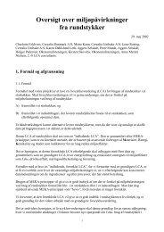 Oversigt over miljøpåvirkninger fra rundstykker - LCAfood.dk