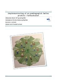 Implementering af en pædagogisk fælles praksis i folkeskolen