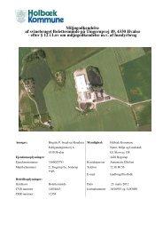 efter § 12 i Lov om miljøgodkendelse mv af - Holbæk Kommune