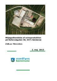 Miljøgodkendelse af udvidelse af svineproduktion - Nordfyns ...