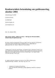 Gældssanering. Konkursrådet - Retspolitisk Forening