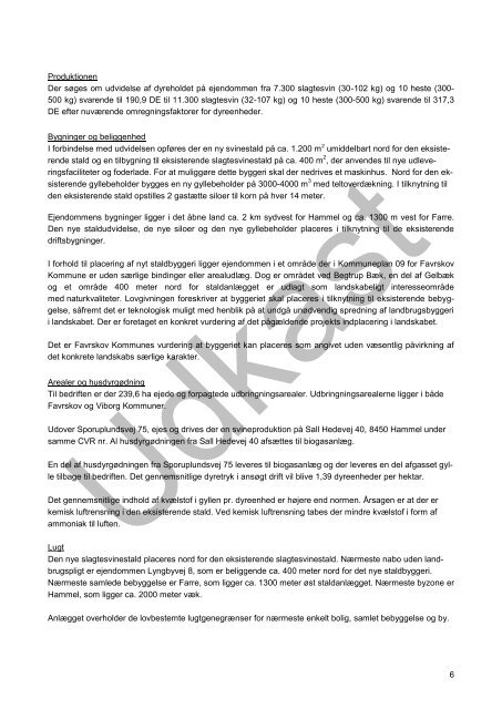 § 12 Miljøgodkendelse af svineproduktionen på Sporuplundsvej 75 ...