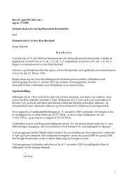 1 Den 29. juni 2011 blev der i sag nr. 37/2009 ... - Revisornævnet