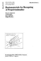 Basismateriale for beregning af propelvindmøller