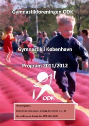 Program 2011-2012 - Gymnastikforeningen ODK