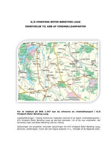 Udbudsmateriale - Vindmøller ved Øster Børsting