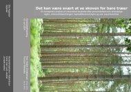 Det kan være svært at se skoven for bare træer - Tem Christiansen