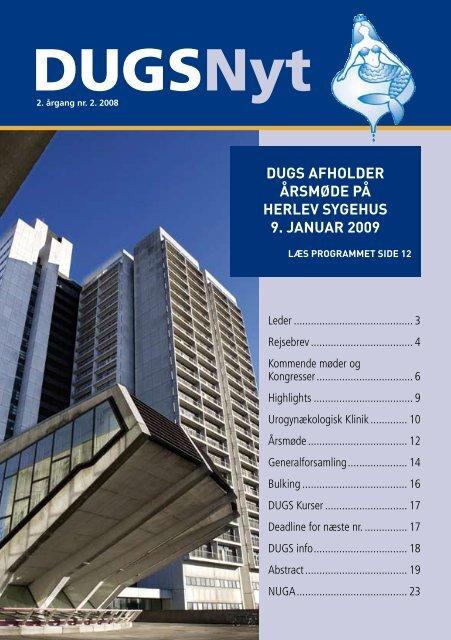 DUGSNyt nr. 2 / 2008 - Dansk Urogynækologisk Selskab