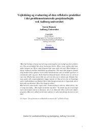 Vejledning og evaluering af den refleksive praktiker - Institut for ...