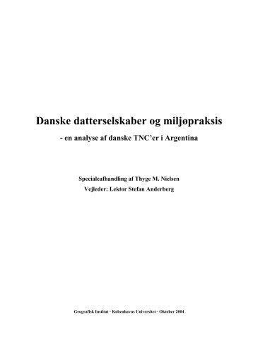 Danske datterselskaber og miljøpraksis – en ... - Thyge M. Nielsen