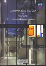 Thermal Analysis of Windows - Viden om vinduer