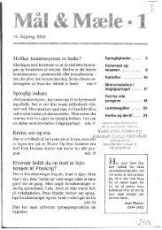 Hvilket kommasystem er bedst? Sproglig indsats ... - Mål og Mæle